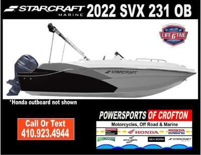 View 2022 Starcraft Marine SVX 231 OB - Listing #292749
