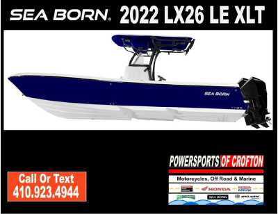 View 2022 Sea Born LX26 Center Console LE XLT - Listing #311590