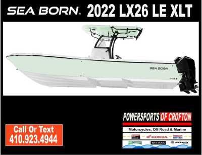 View 2022 Sea Born LX26 Center Console LE XLT - Listing #311589